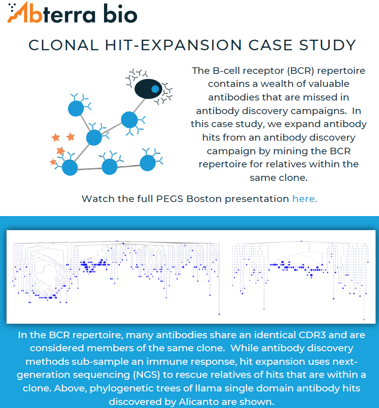 infographic of clonal hit expansion case study